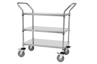 Trolley 3 shelf S/S 61x122x102cm Rapini