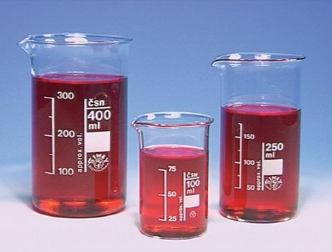 Beaker tall form glass 250ml Simax