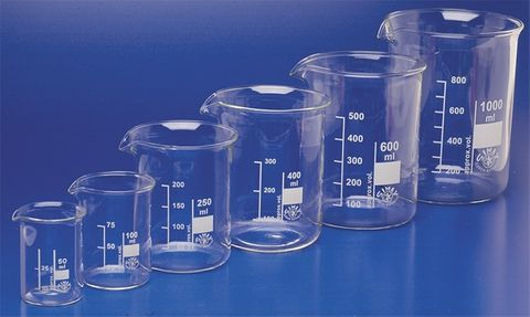 Beaker low form glass 150ml Simax