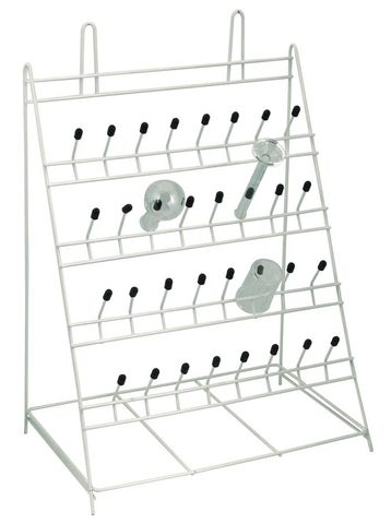 Rack draining bench mounting 32 pegs