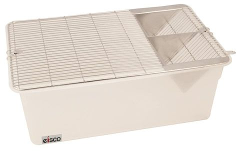 Animal cage p/p base with s/s grill 43cm