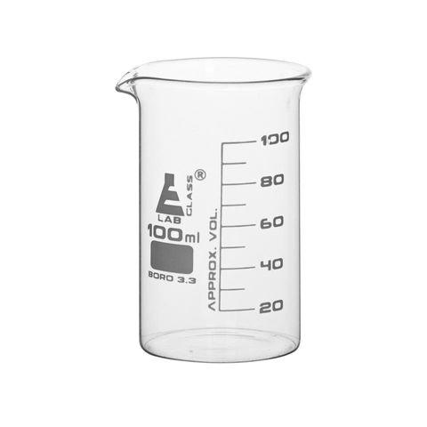 Beakers glass tall form 100ml boro