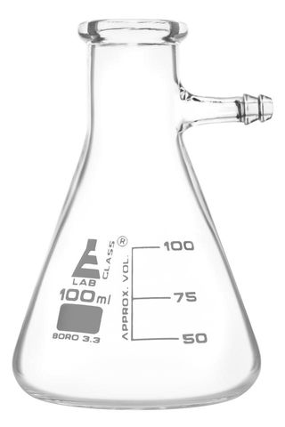 Flask filter with glass side arm 100ml