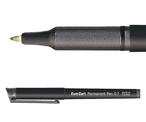 EverZart Permanent Pen Black 20s