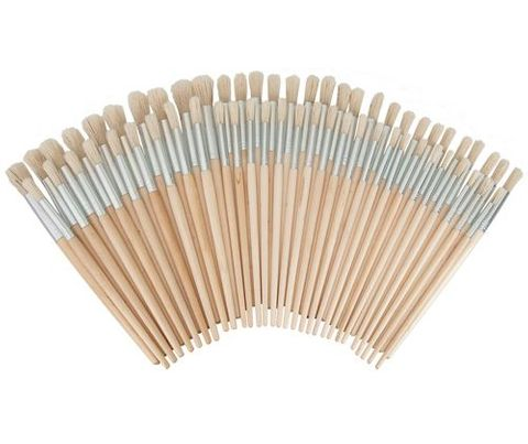 Hog Hair Brushes Asst 60s Round