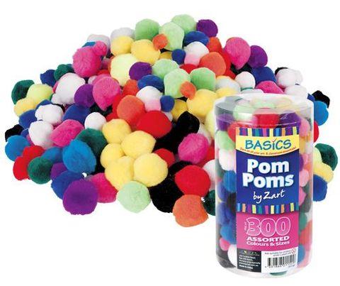 Basics Pom Poms Asst 300s