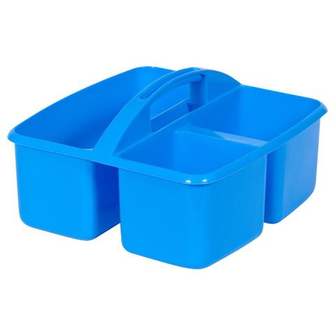 Small plastic caddy - light blue