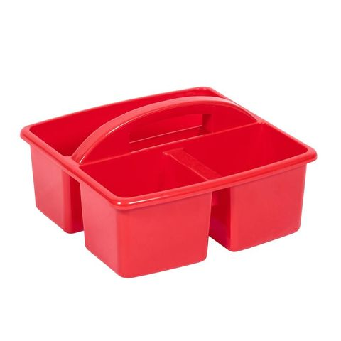 Small plastic caddy - red