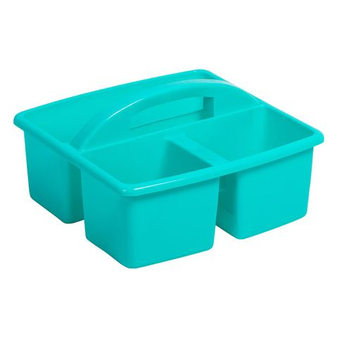 Small plastic caddy - teal