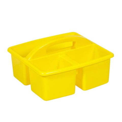 Small plastic caddy - yellow