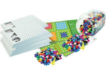 Peg Board set - 10 colours & 5x boards
