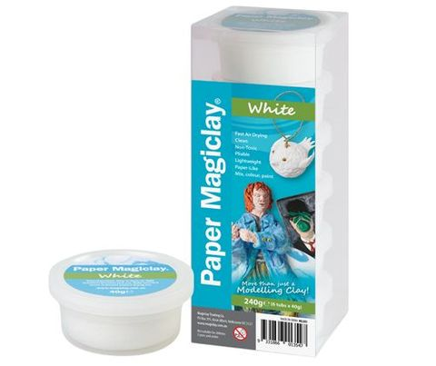 Paper Magiclay 240g White  Canister