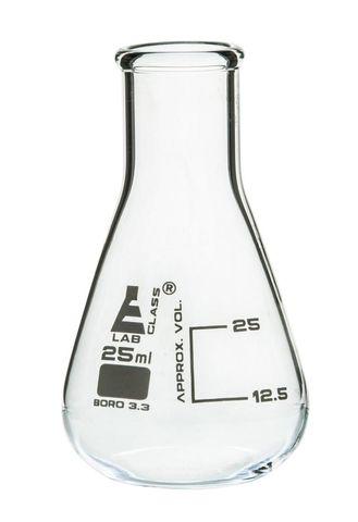 Flask Erlenmeyer NM glass 25ml Labglass