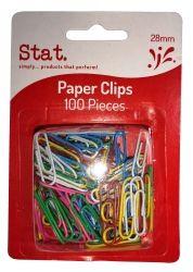 Clips paper 28mm small multi colour