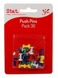 Push pins assorted colours