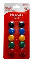 Magnets assorted colours 20mm