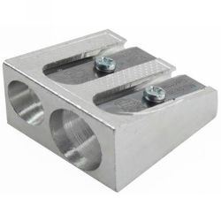 Sharpeners double hole metal wedge