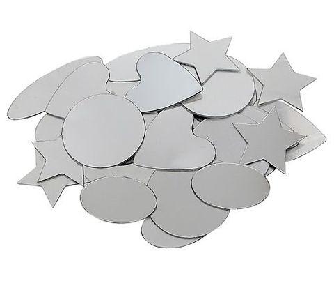 Mirror Adhesive Geometric 50s Asst