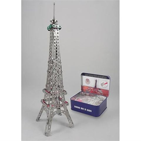Eiffel tower in a tin