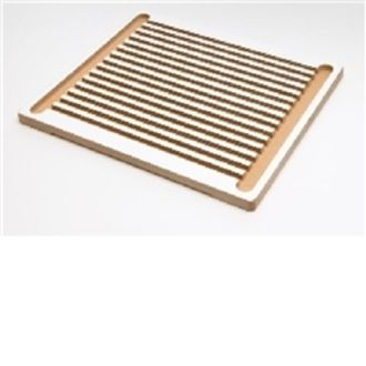 Thermometer tray wooden holds 10 therm.