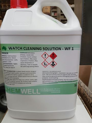 WF1 Watch cleaning solution 5lt