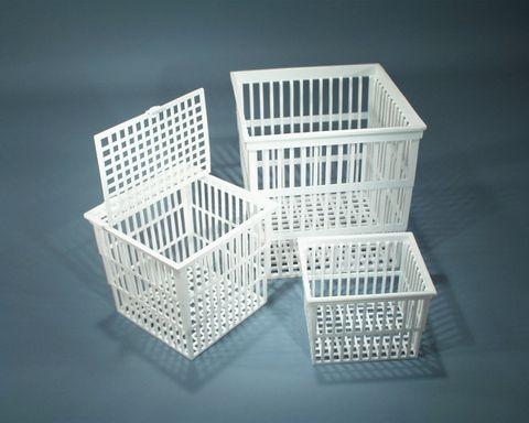 Basket test tube 160x160x160mm PP w/lid