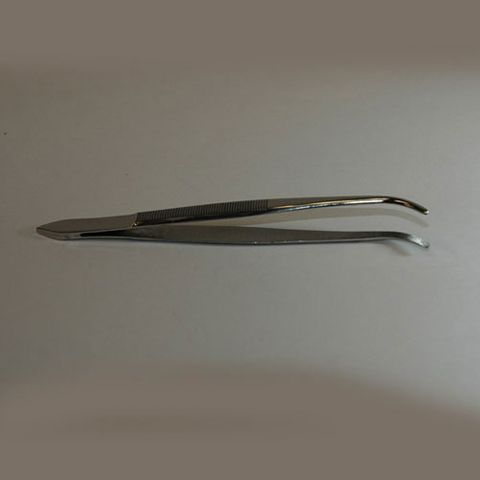 Forceps thumb blunt curved 130mm