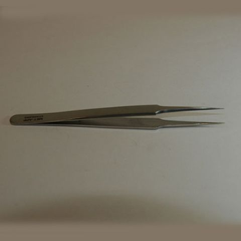 Forceps jeweller needle straight 125mm