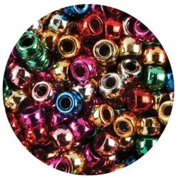 Pony beads - Metallic