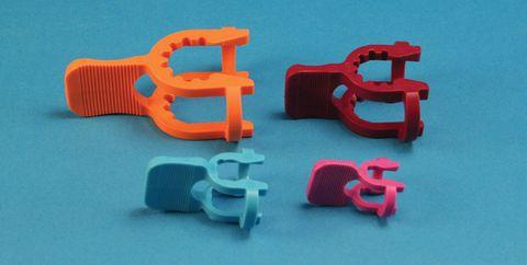 Clips for ball joints S35 dark orange