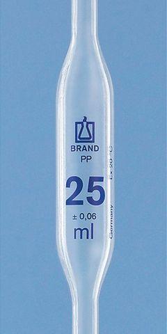 Pipette Volumetric (bulb) PP 25ml