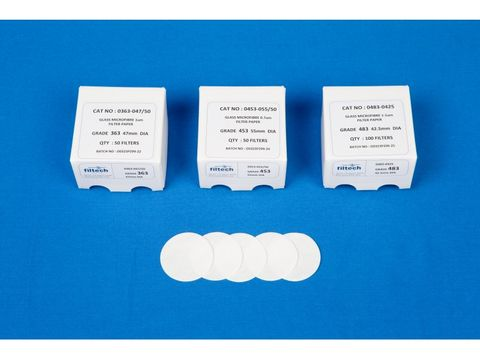 Filter paper glass fibre 1.0um 42.5mm