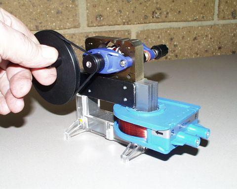 Motor generator hand wind AC/DC