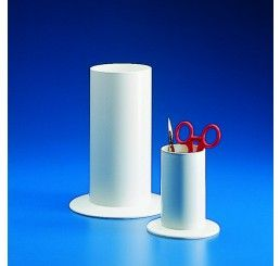 Instrument jar white PP 200x90mm