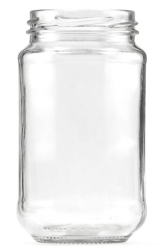 Jar glass food twist neck 375ml w/o lid