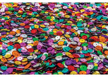 Cup sequins multi coloured 8mm