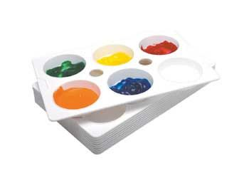 Paint Palette 6 wells - classpack of 20