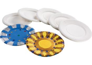 Unwaxed paper plates