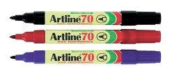 Artline 70 markers black 1.5mm