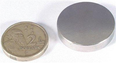 Magnet Neodymium Ni-plated 25x5mm