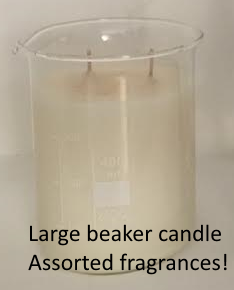 Beaker candle large - assorted scents