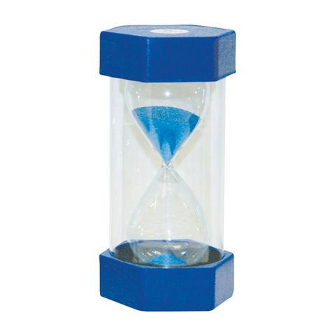 Small coloured sand timer 5 minute blue
