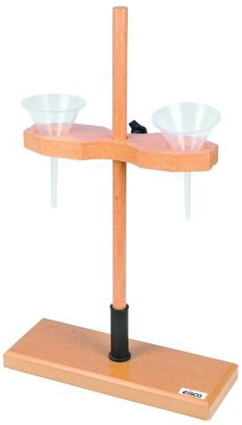 Funnel stand double polished wood