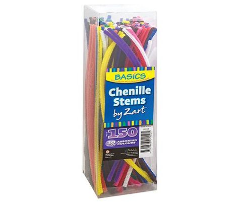 Chenille stems 30cm assorted