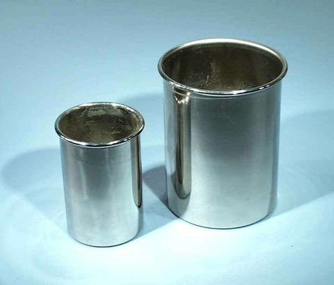 Calorimeter cup copper 100x75mm Ni plate