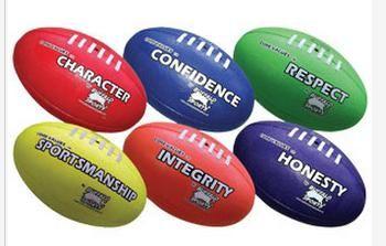 AFL Footballs Core Value Set 1 Keywords