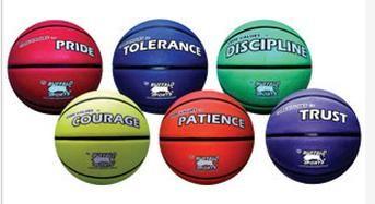 Rubber Basketballs Core Values Set 2