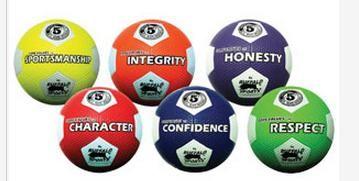 Rubber Soccer balls Core Values Set 1