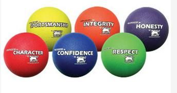 Rubber Playground Ball Core Values Set 2