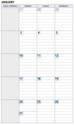 Dayplanner refill Debden dated monthly